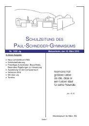 30/3 (03.03.2010) - Paul-Schneider-Gymnasium
