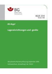 BGR 234: Lagereinrichtungen und -geräte - Paul-Orzessek.de