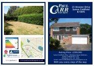 Sales details APPROVED - 23 Alcester Drive - Paul Carr Estate Agents