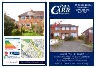Sales Details Approved - 15 Sandy Lane - Paul Carr Estate Agents