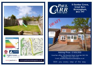 sales details draft - 9 dunbar grove - Paul Carr Estate Agents