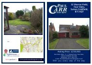 Sales details Draft 32 Sharrat Field - Paul Carr Estate Agents