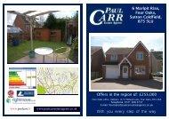 Sales details 6 marlpit rise - Paul Carr Estate Agents