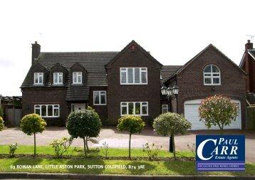 63 roman lane, little aston park, sutton coldfield, b74 3ae - Paul Carr ...