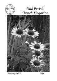 January 2011 magazine - Paul Parish Church