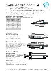 Filterinformationen - Paul Gothe GmbH