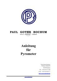 Manual - Paul Gothe GmbH
