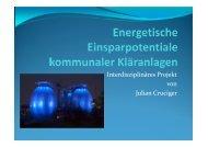Energetische Einsparpotentiale kommunaler Kläranlagen ...
