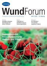 Problemwunden – Herausforderung für Medizin und Pflege - ResearchGate