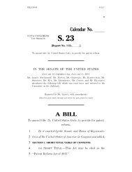 patent reform bill, S. 23 - Paul Hastings