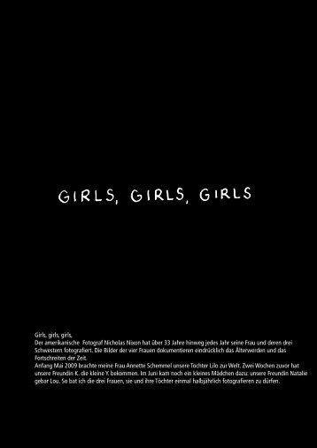 Girls, girls, girls, Der amerikanische Fotograf Nicholas ... - Paul Huf