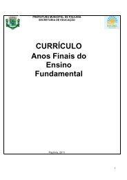 Currículo Completo - Anos Finais - Prefeitura Municipal de Paulínia