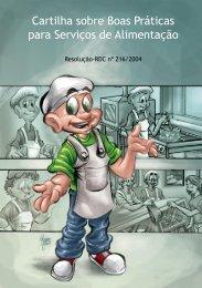 ANVISA – Cartilha sobre Boas Práticas para Serviços de Alimentação