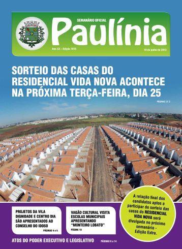 1015 - Edição Normal - Prefeitura Municipal de Paulínia - Governo ...