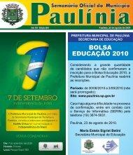 bolsa educação 2010 - Prefeitura Municipal de Paulínia - Governo ...