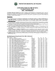 Reti-Ratificacao Enfermeiro - Prefeitura Municipal de Paulínia