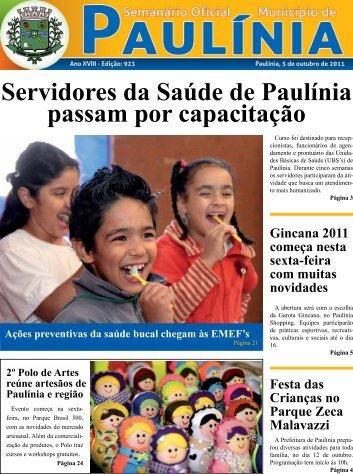 Servidores da Saúde de Paulínia passam por capacitação Ações ...
