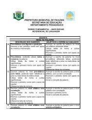 Referencial de Linguagem - Prefeitura Municipal de Paulínia