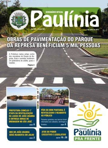 obras de pavimentação do parque da represa beneficiam 5 mil ...