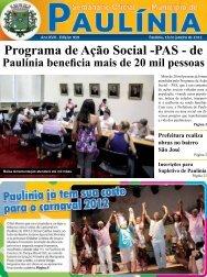 Programa de Ação Social -PAS - de - Prefeitura Municipal de Paulínia