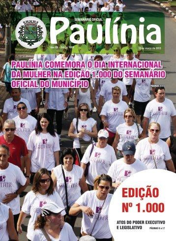 1000 - Edição Normal - Prefeitura Municipal de Paulínia