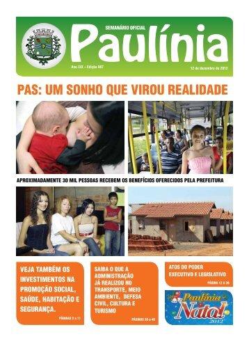 PAS: UM SONhO qUE vIROU REALIdAdE - Prefeitura Municipal de ...