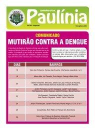 MUTIRÃO CONTRA A DENGUE - Prefeitura Municipal de Paulínia