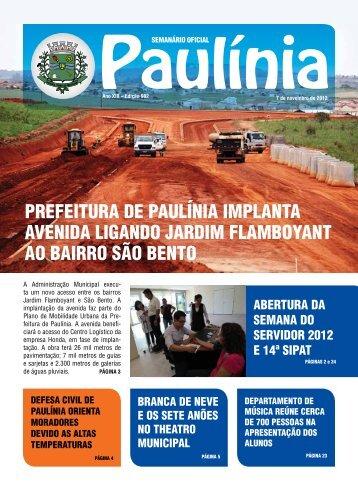 PREFEITURA DE PAULÍNIA IMPLANTA AVENIDA LIGANDO ...