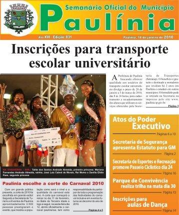 Inscrições para transporte escolar universitário - Prefeitura ...