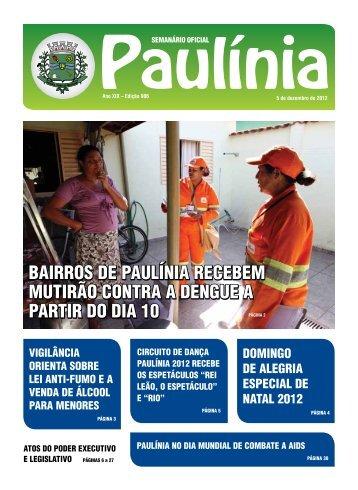 bairros de paulínia recebem mutirão contra a dengue a partir do dia ...