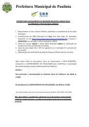 Cancelamento de inscrição municipal - Prefeitura Municipal de ...