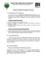 Futebol Amador 2012 - Regulamento - Prefeitura Municipal de ...