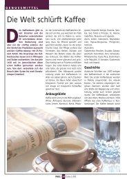 Die Welt schlürft Kaffee
