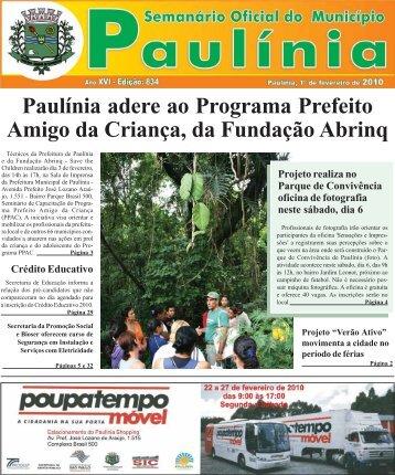 Paulínia adere ao Programa Prefeito Amigo da Criança, da ...