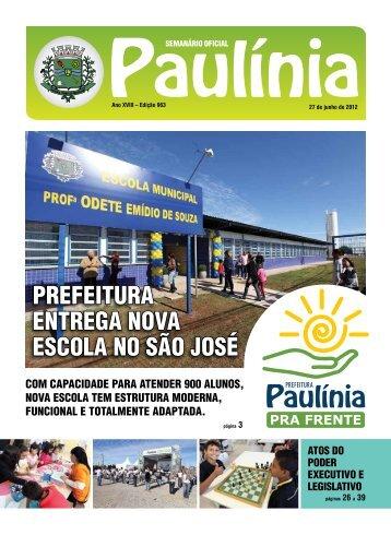 prefeitura entrega nova escola no são josé - Prefeitura Municipal de ...