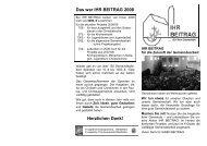 Das war IHR BEITRAG 2008 - Evangelische Kirchengemeinde ...