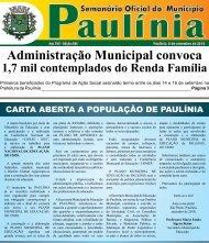 Administração Municipal convoca - Prefeitura Municipal de Paulínia