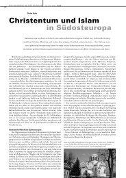Christentum und Islam in Südosteuropa (pdf, 283KB)