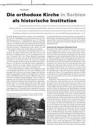 Die orthodoxe Kirche in Serbien als historische ... - Paulus-Akademie