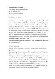 Vortrag von Dr. h. c. Friedrich Schorlemmer - Paulus-Akademie