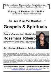 Gospels & Spirituals - Privates Gymnasium St. Paulusheim, Bruchsal