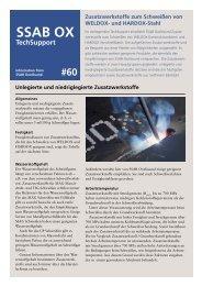 Hardox- Zusatzwerkstoffe zum Schweißen - Paul Wiegand GmbH