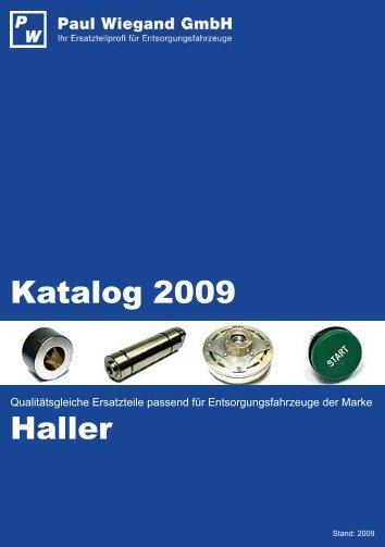 Katalog 2009 Haller - Paul Wiegand GmbH