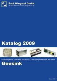 Katalog 2009 Geesink - Paul Wiegand GmbH