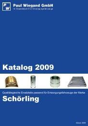 Katalog 2009 Schörling - Paul Wiegand GmbH