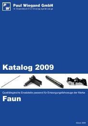 Katalog 2009 Faun - Paul Wiegand GmbH