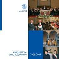 Inaugurazione anno accademico 2006-2007 - Università degli studi ...