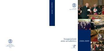 Inaugurazione anno accademico 2008-2009 - Pavia University Press