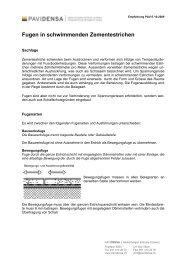 pdf fugen in schwimmenden zementestrichen - Pavidensa