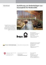 Ausführung von Bodenbelägen aus Gussasphalt für ... - Pavidensa